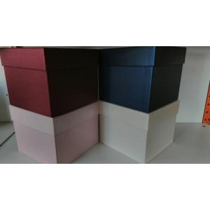 Подарочная коробка квадрат в ассортименте,