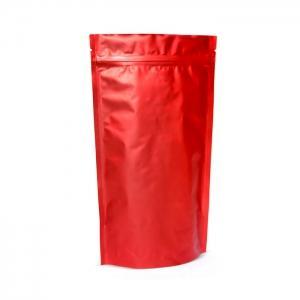 Пакет дой-пак металлизированный красный матовый . ..,