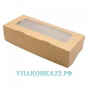 Коробка крафт с окошком в ассортименте,  Барнаул