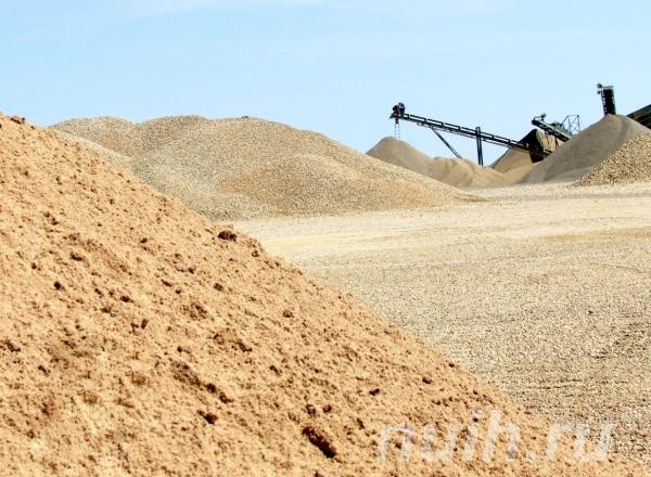 Песок. ГПС - ПГС песчано гравийная смесь Цемент,  Томск